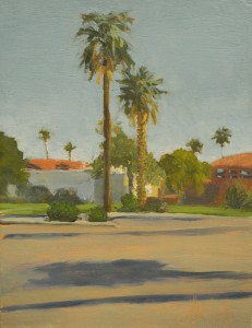 Encanto Park, Oil on Panel, 8.5x6.5 in, 2014
