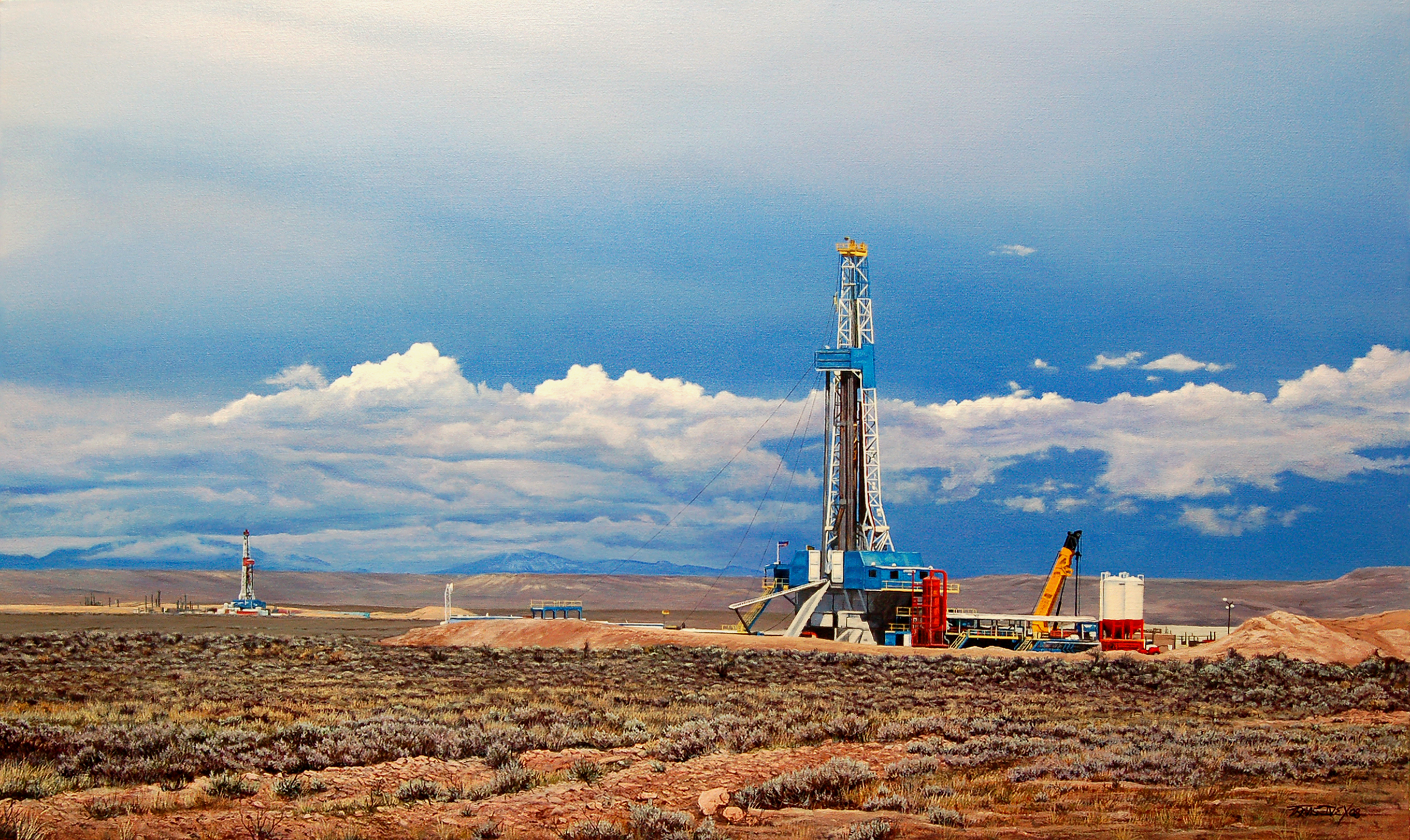 Drilling Rig and The Wyoming Range copy