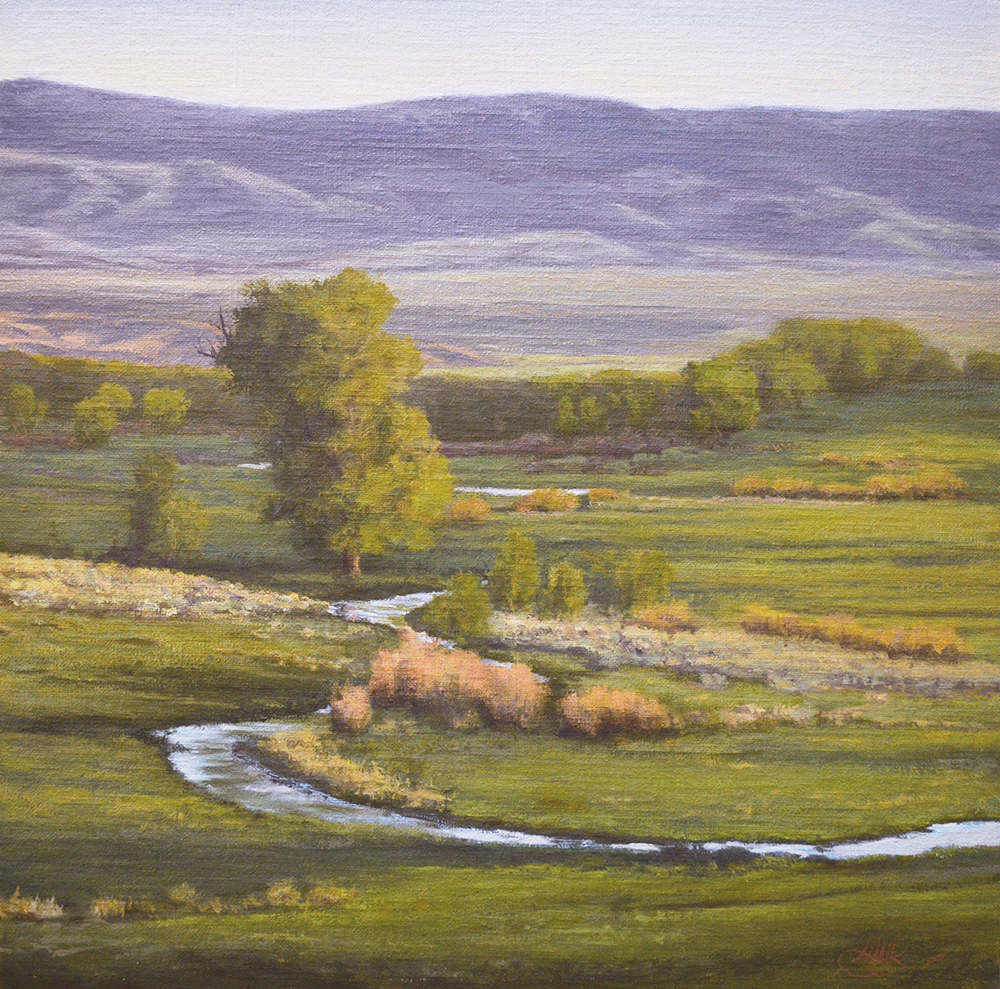 """""""Big Ditch Season,"""" Oil on Linen, 16x16 in, 2014 Please contact us for price and availability."""